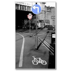 Αφίσα (μαύρο, λευκό, άσπρο, δρόμος, πινακίδες)